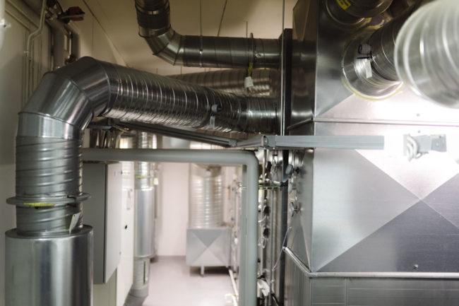 Kuva Koneellisen tulo- ja poistoilmanvaihdon konehuone