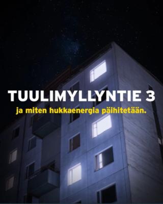 As Oy Tuulimyllyntie 3-mitenhukkaenergia päihitetään